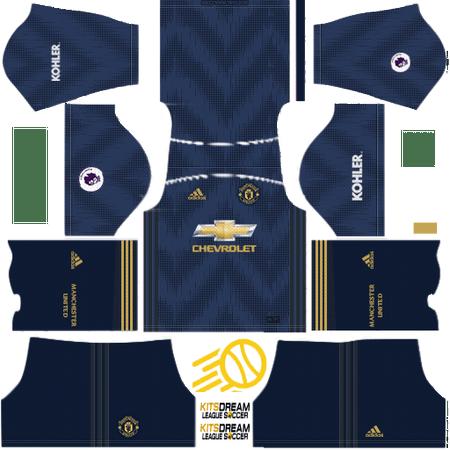 Manchester United Kits Dream League Soccer 2019 Camiseta Manchester United Manchester United Uniformes Soccer