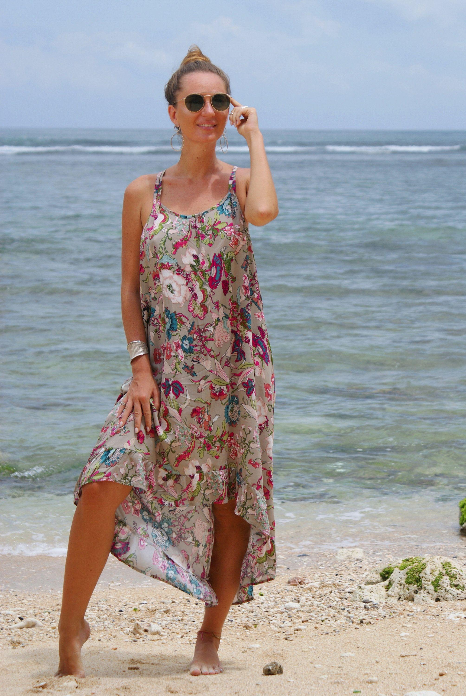 Dress Tail Frill Boho Summer Dress Loose Fitting Dress Floral Etsy Loose Fitting Dresses Boho Summer Dresses Tail Dress [ 3000 x 2008 Pixel ]
