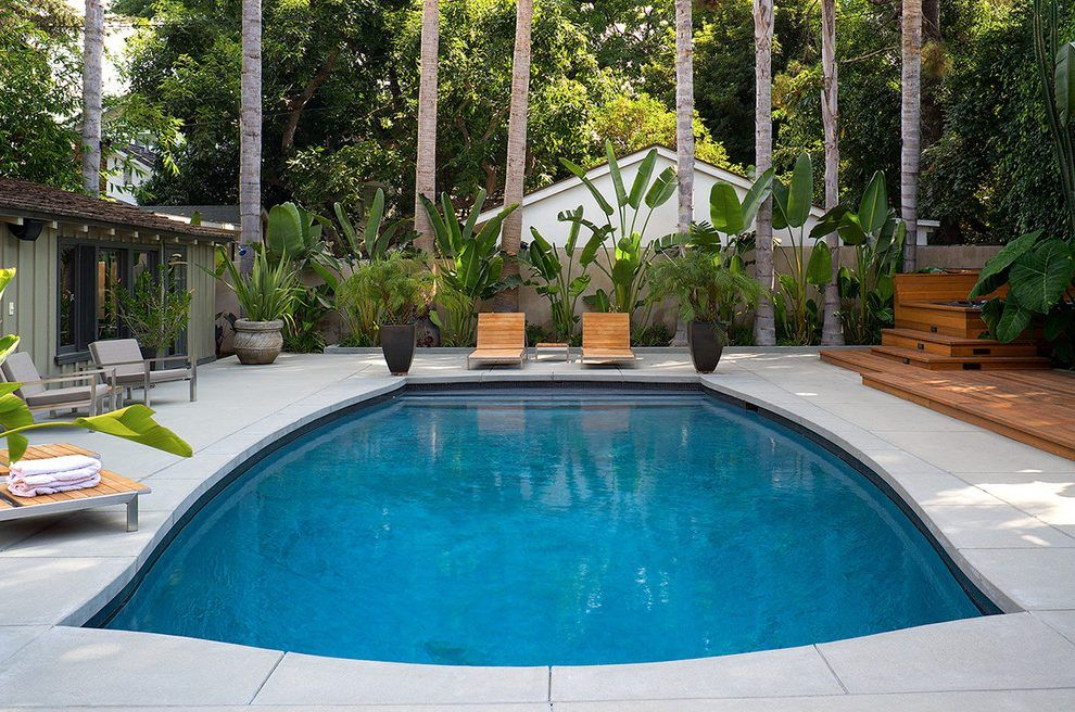 Diy Inground Pool >> brushed concrete pool deck pool contemporary with pool ...