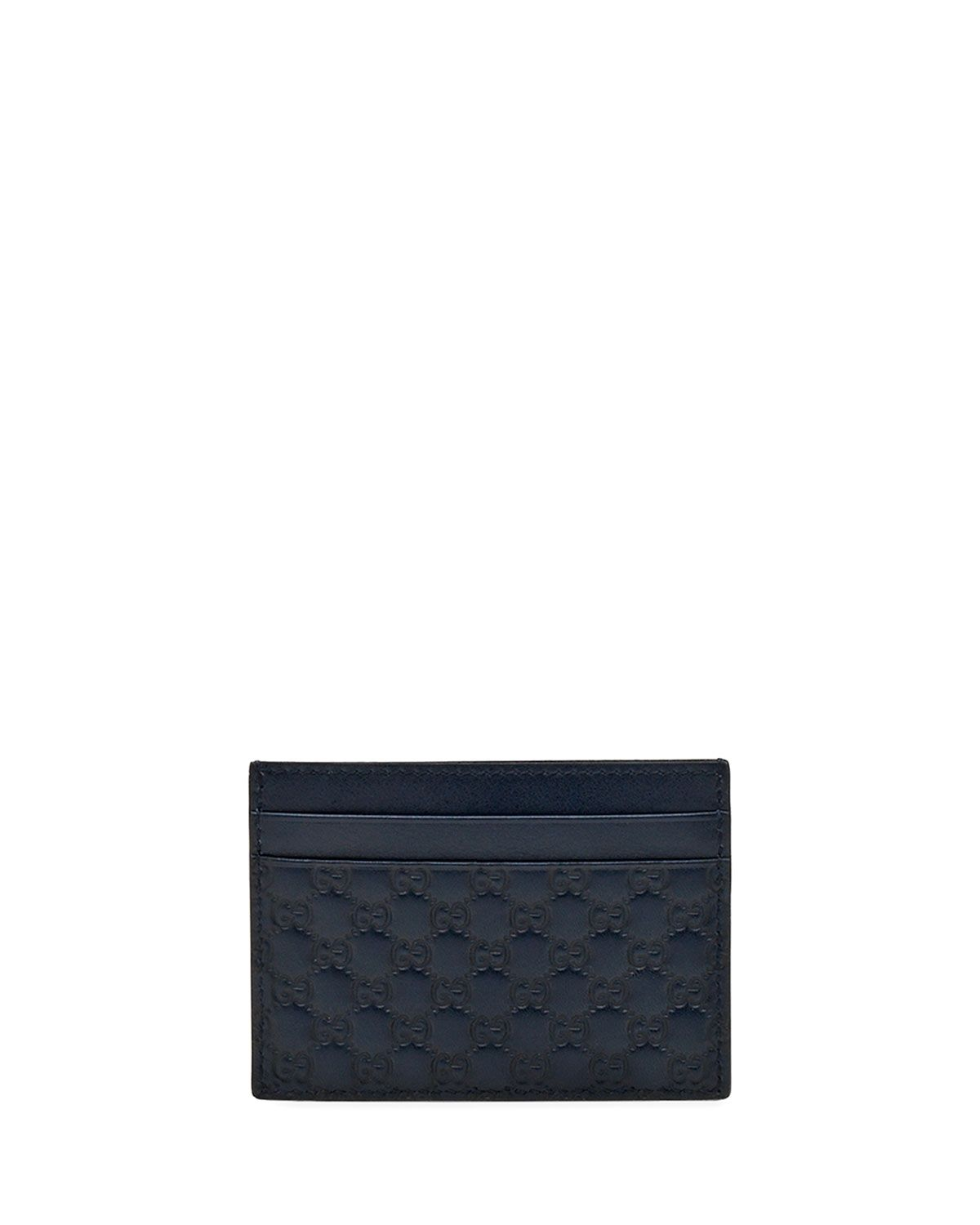 Micro Guccissima Card Case, Navy - Gucci | *Handbags, Wallets ...