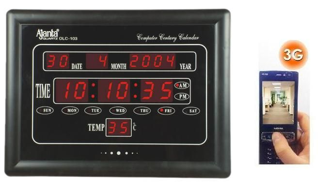 The SPY 3G HIDDEN DIGITAL WALL CLOCK CAMERA With Removeable