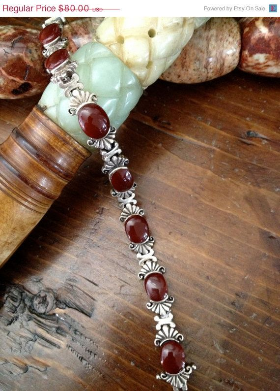 Lovely Vintage 925 Sterling and Carnelian by Vintageimagine, $68.00