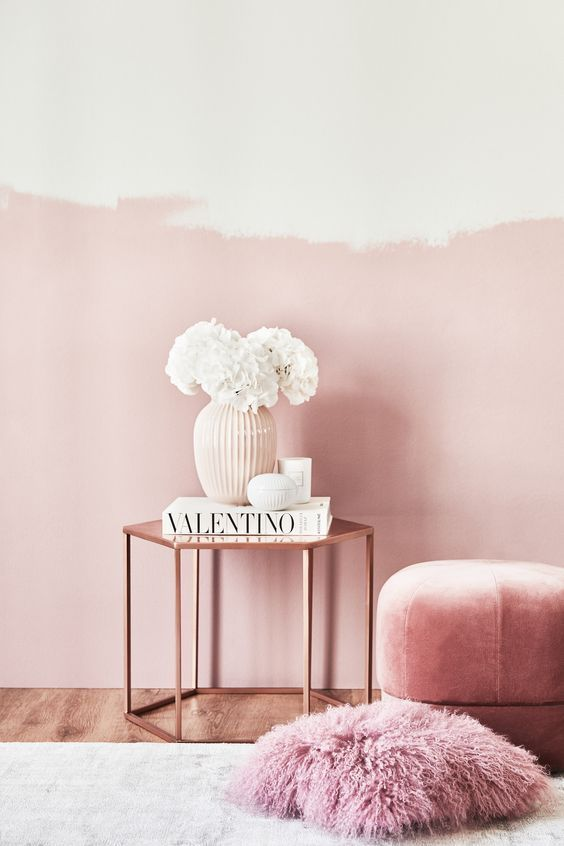 Kupfer und Pink ♥ Ein Traum-Essamble aus einem Beistelltisch in