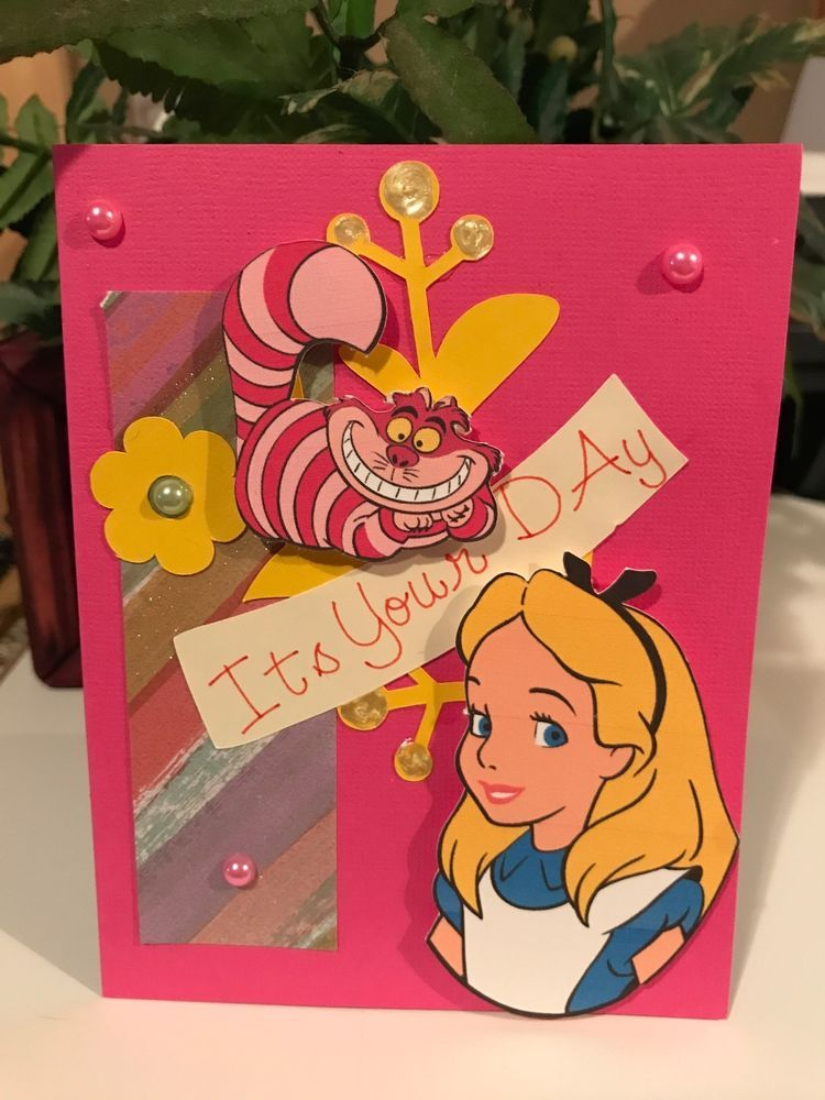 Handmade paper greeting card alice in wonderland birthday card handmade paper greeting card alice in wonderland birthday card handmade anyoccasion m4hsunfo