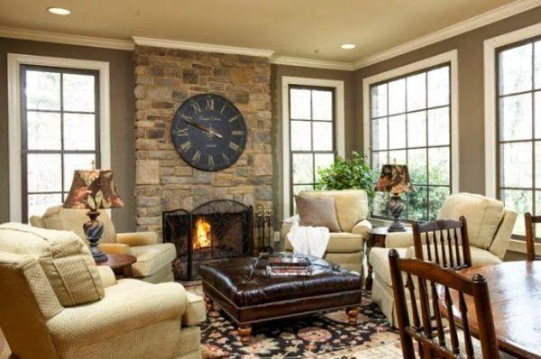cozy fireplace room