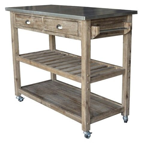 Boraam Sonoma Kitchen Cart With Wire Brush Gray From Target
