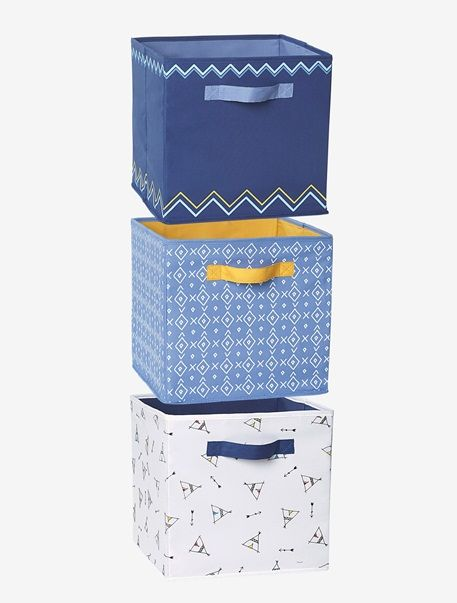 3er set aufbewahrungsboxen f r jungen mehrfarbig kinderzimmer aufbewahrungsbox aufbewahrung. Black Bedroom Furniture Sets. Home Design Ideas