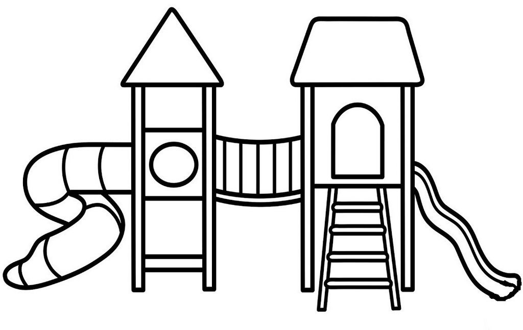 Fun Playground Coloring Books Toddler Drawing
