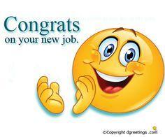 congratulation for the new job