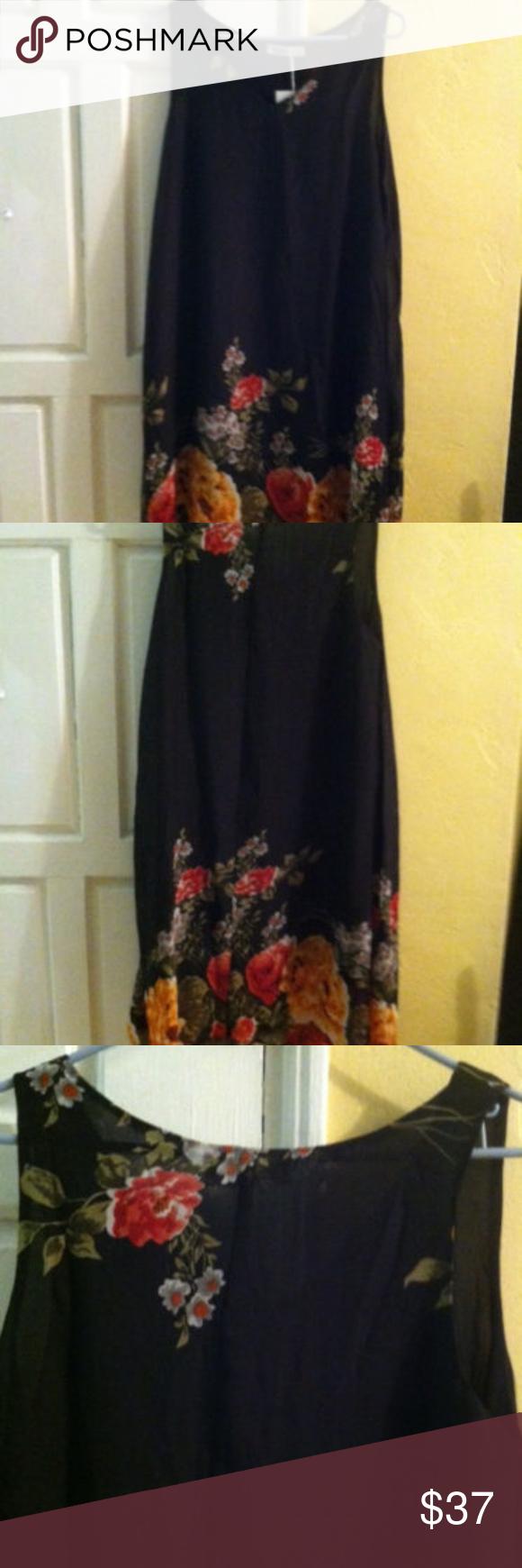 Nextima Black Dress Sz 14 Nwt Floral Handkerchief Nextima Midi Length Dress New With Tags Size 14 Handkerchief Clothes Design Fashion Design Comfortable Dress [ 1740 x 580 Pixel ]