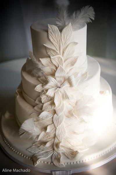 tartas de bodas decoradas con flores image