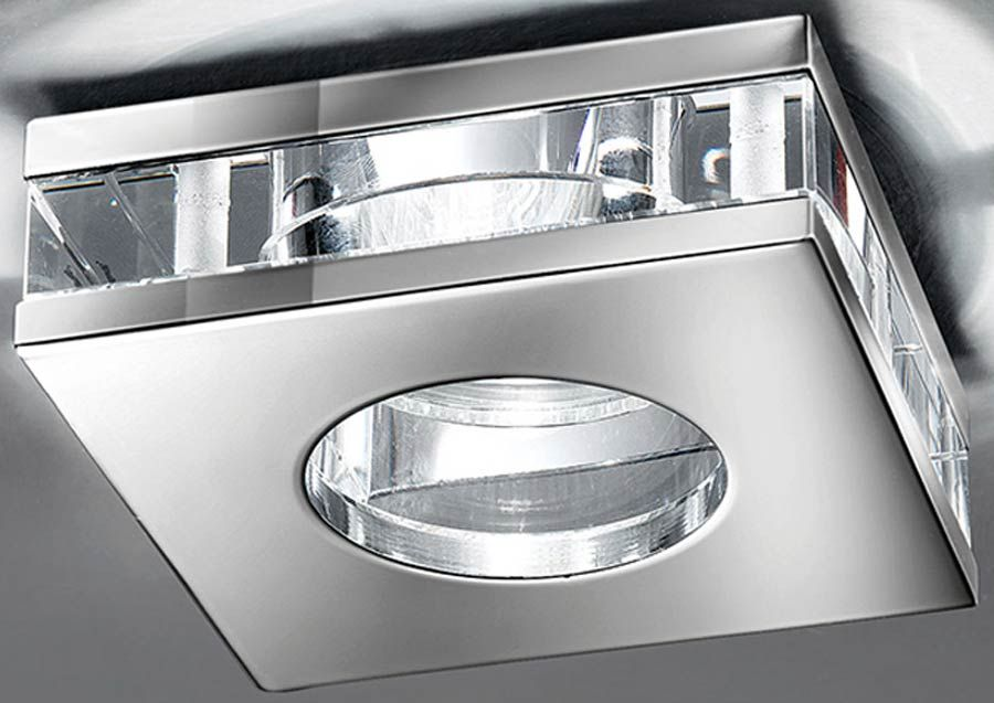 Square Low Voltage Chrome IP65 Bathroom Down Light Crystal ...