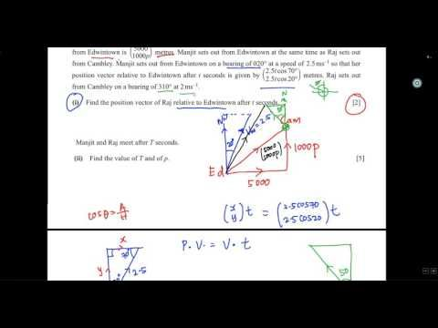 IGCSE - Add Math - Relative velocity with vector 1 - YouTube