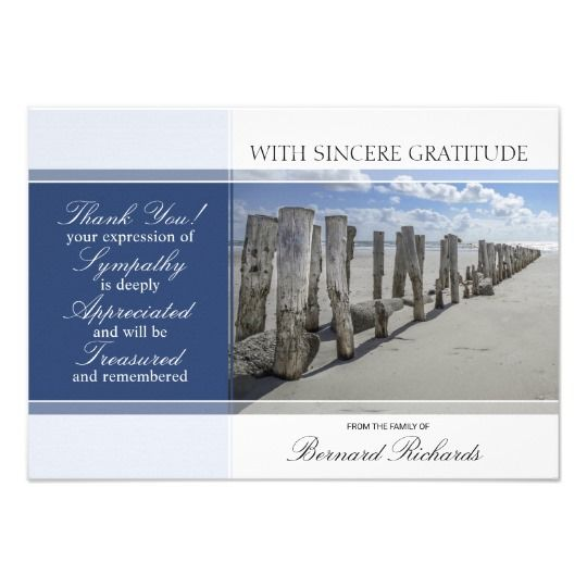 Funeral Thank You Cards Template Zazzle Com Funeral Thank You