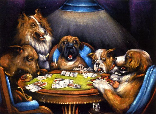 Yet Another Kinkade Thread Dog Art Dog Paintings Dogs Playing Poker