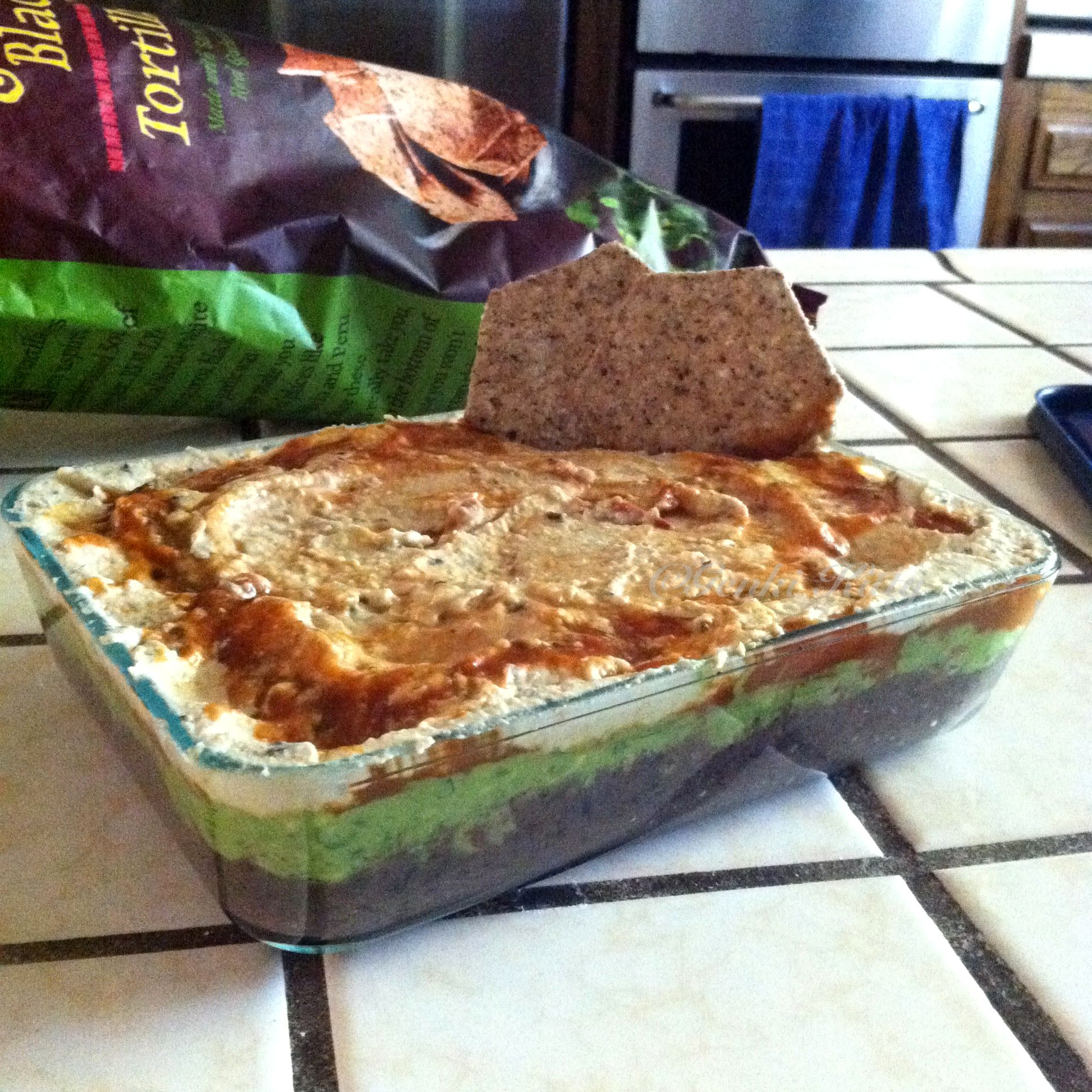 7 Layer Vegan Chip Dip