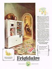 1920s BIG VINTAGE Frigidaire Electric Refrigerator Kitchen Decor Art Print AD