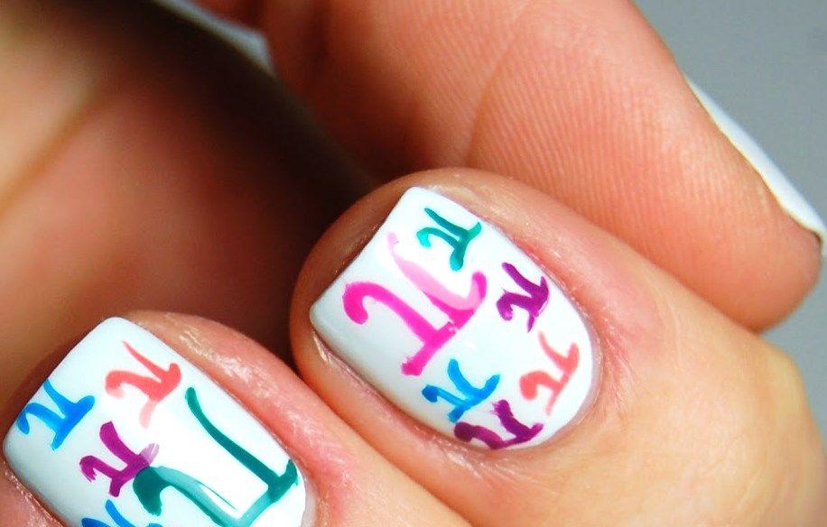 pedicure nail art design   christmas tree decorations   Pinterest ...