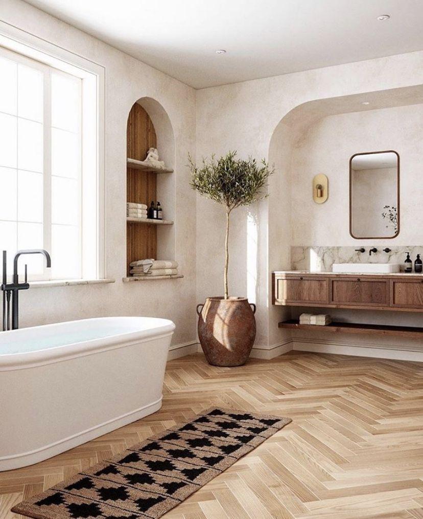 Photo of Warm + Inviting Master Bathroom