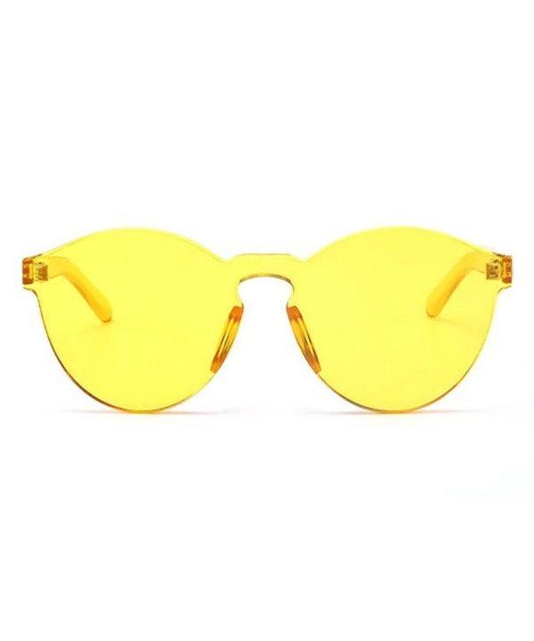 Women Oversized One Piece Clear Lens Rimless Tinted
