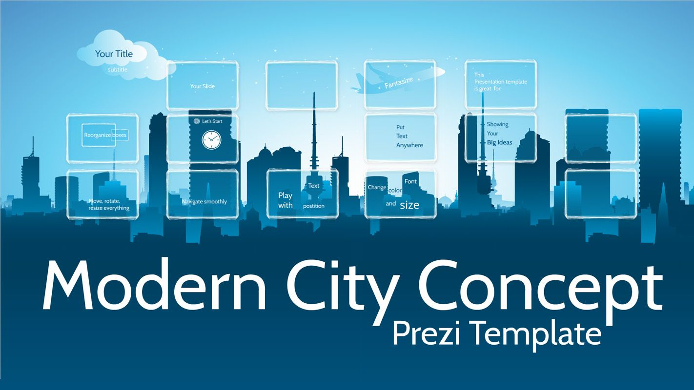 Modern City Concept  Prezi Template Pixelsmoothie Prezi Templates