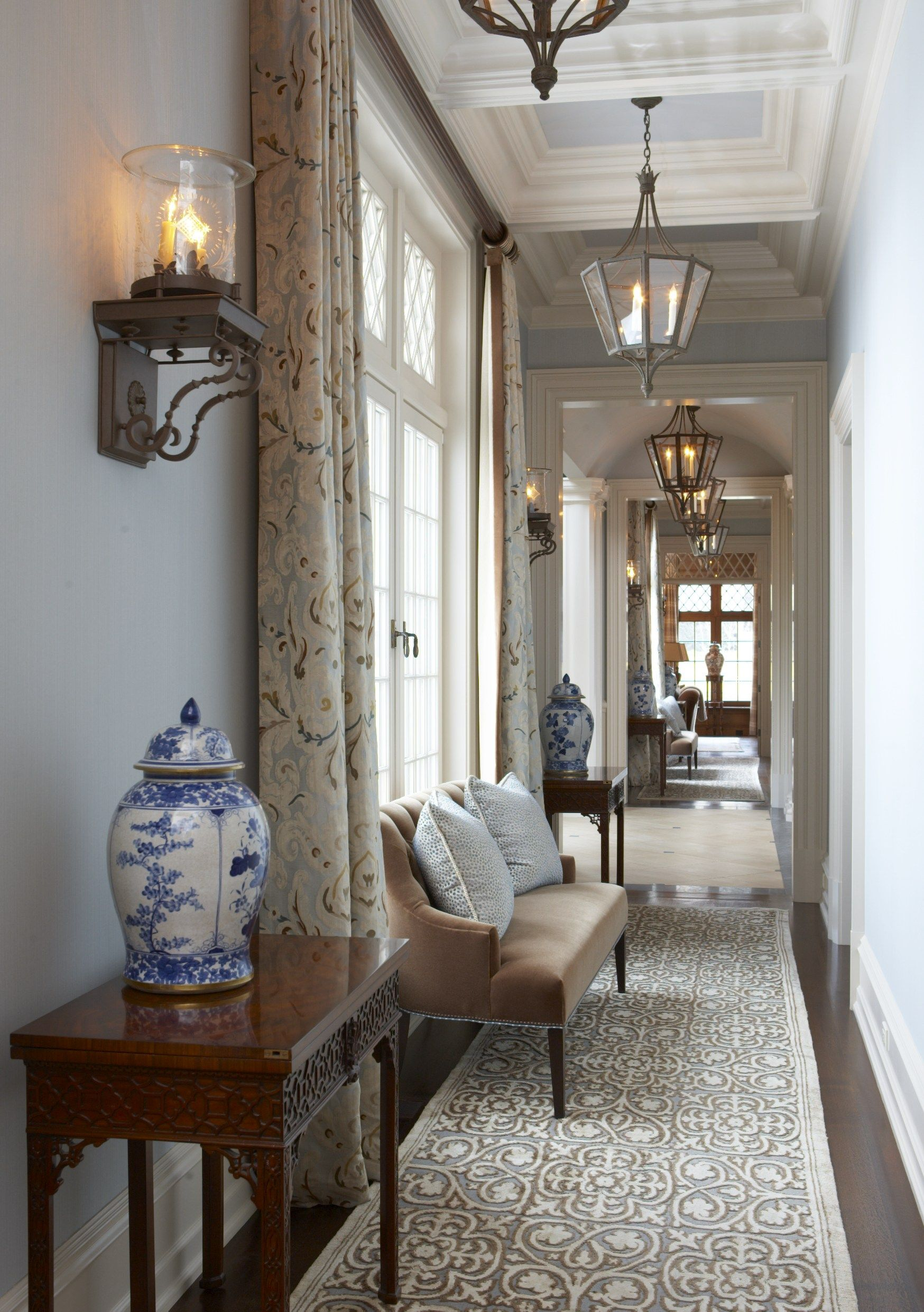 Upstairs hallway decor  Dering Hall  home  Pinterest  Hall Foyers and Decoration