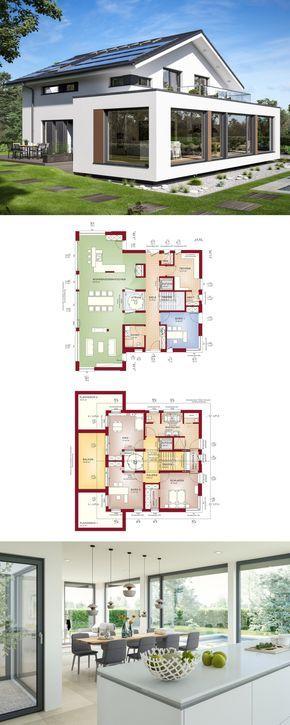 designhaus mit satteldach und atrium haus concept m 210 bien zenker einfamilienhaus bauen. Black Bedroom Furniture Sets. Home Design Ideas