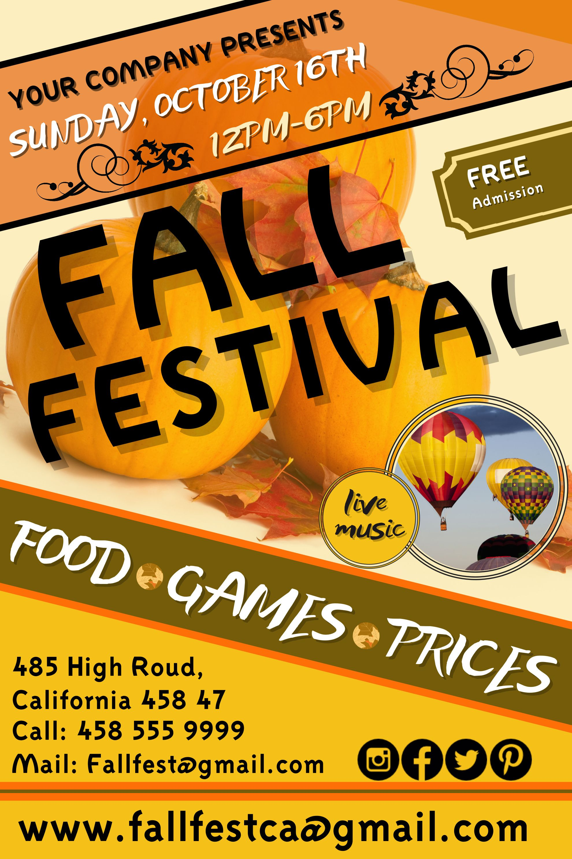 fall festival flyer click on the image to customize on postermywall
