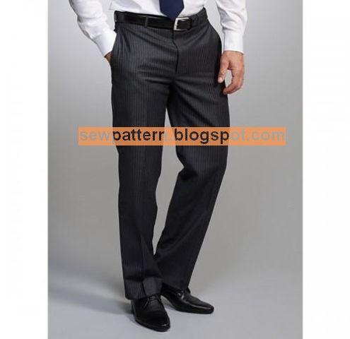 Sew Pattern باترون مفصل لسروال كلاسيك رجال مقاس 36 56 Mens Pants Pants Pattern Pantsuit