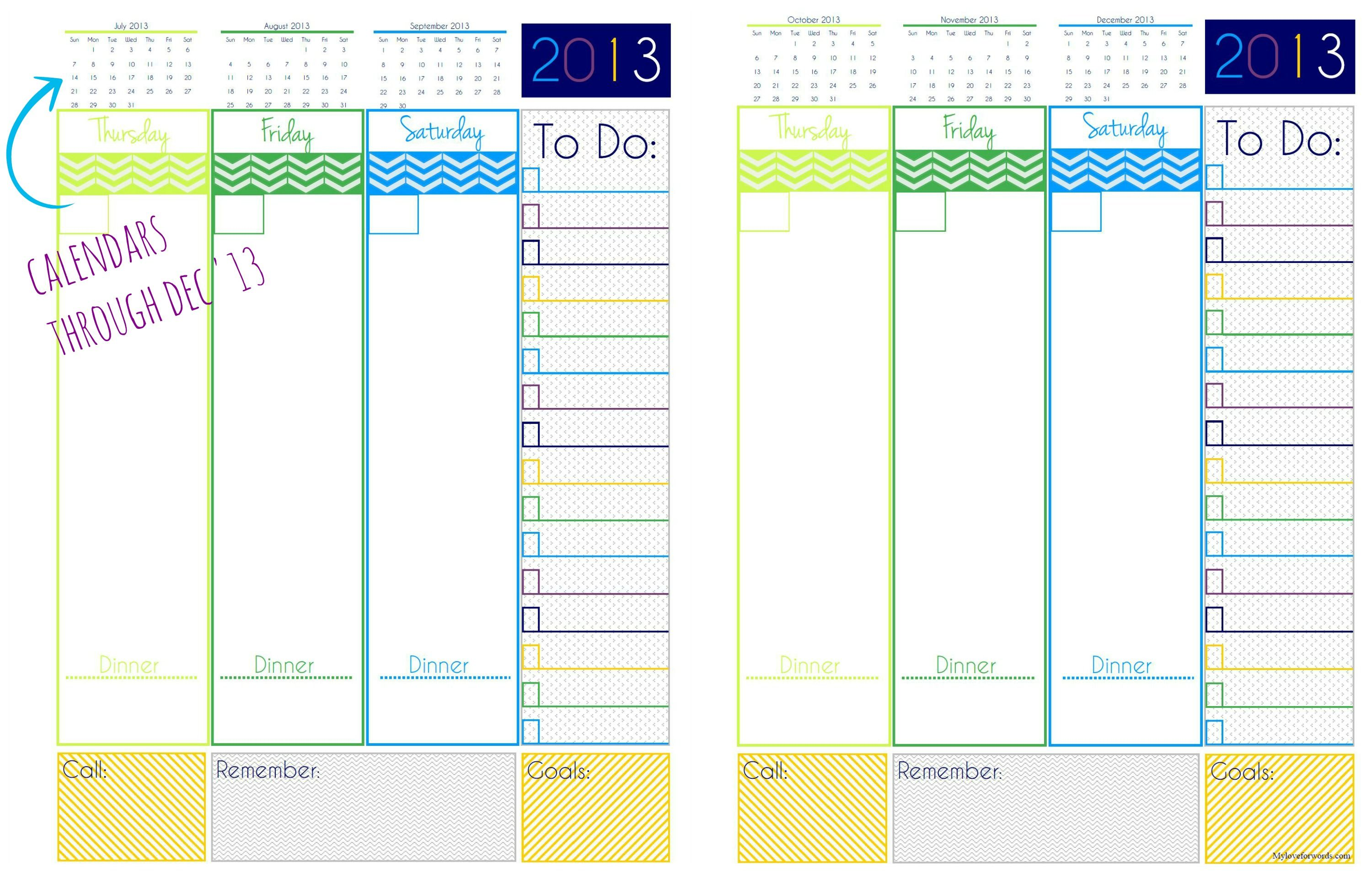 Day Planner Free Printable  Planners Free Printable And