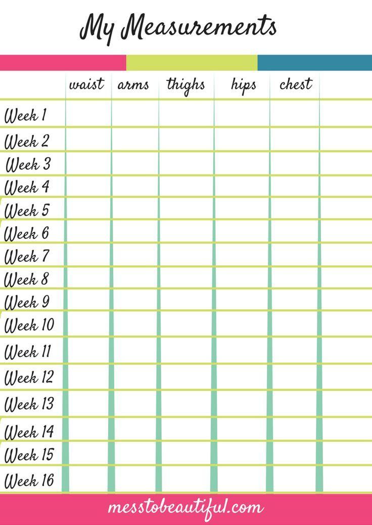 weight loss chart printable