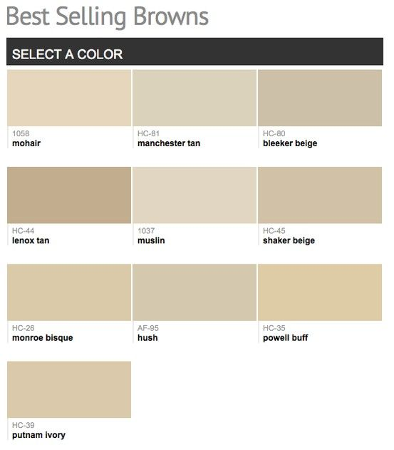 Best Selling Popular Shades Of Brown Taupe Paint Colors From