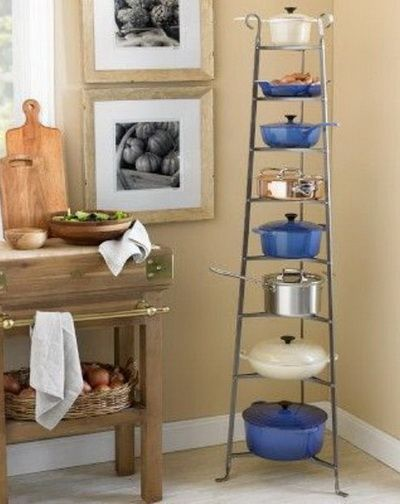 30 kitchen pots and pans storage solutions pan storage pot storage pan storage kitchen on kitchen organization pots and pans id=28128