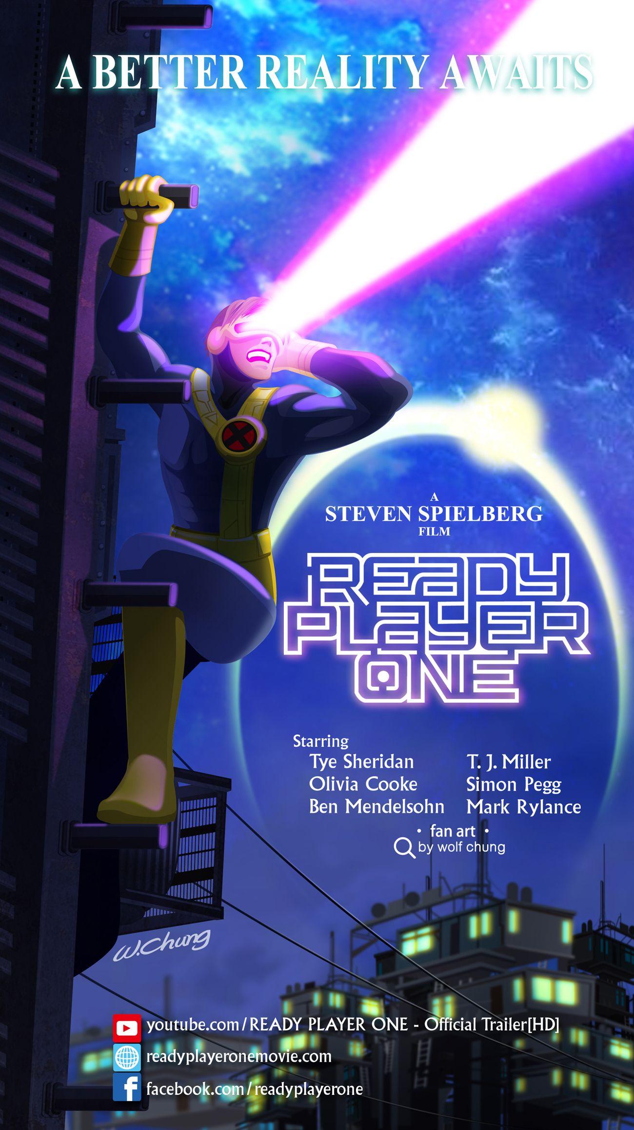 Ready Player One Ready Player One Movie Poster Steven Spielberg Tye Sheridan X Men X Men Cyclops Cyclops Mar Ready Player One Player One Ready Player One Movie