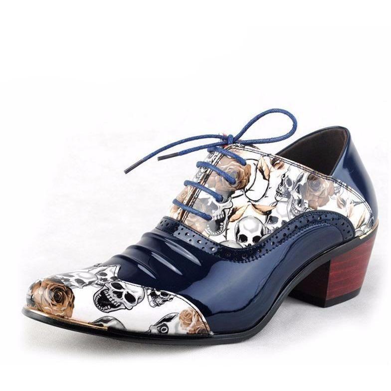 skull dress shoes