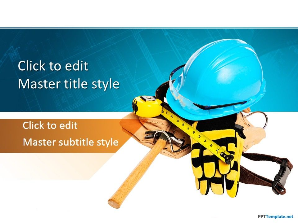 Free Construction Worker PPT Template List safety precautions for