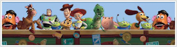 Toy Story Blue Prepasted Wallpaper Border Part 46