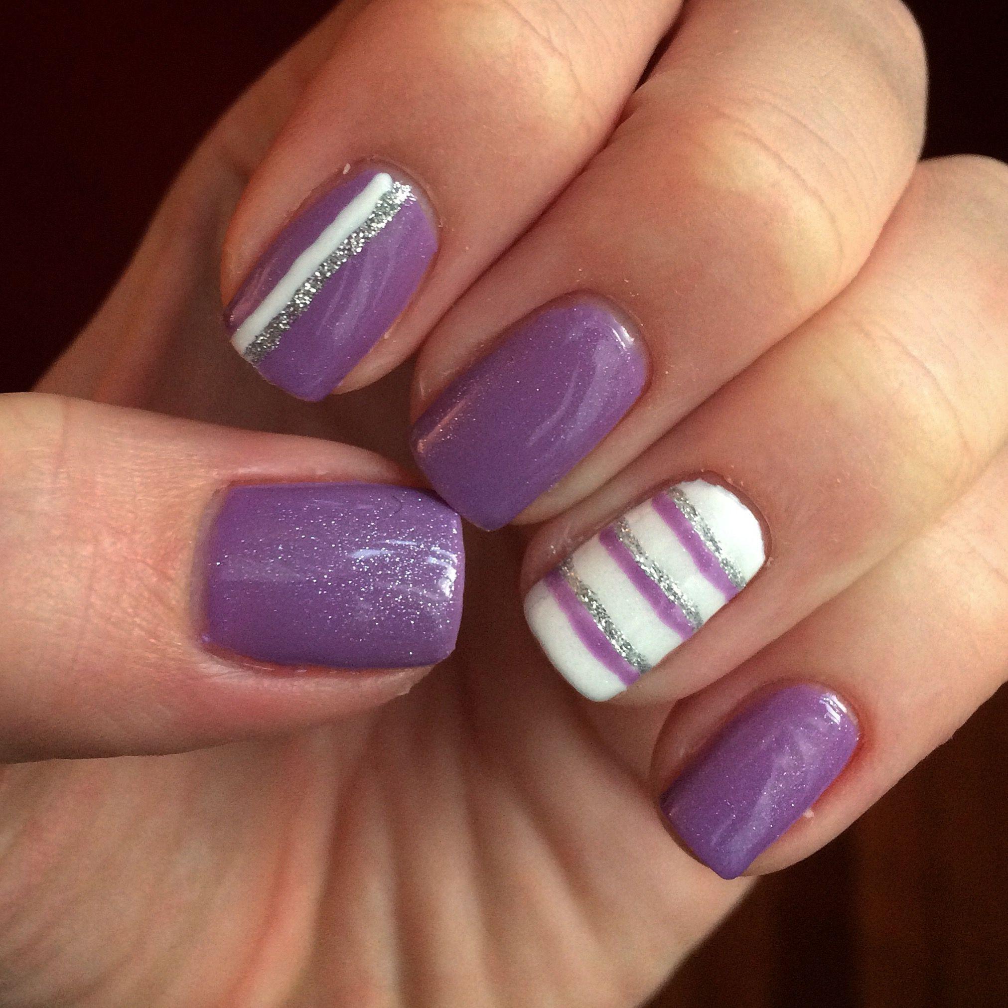 Shellac nail design diy nails cnd shellac purple nails lilac