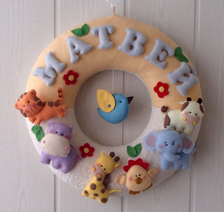 Декор детской, Подарок новорожденному, Именной круг, Панно с именем, Имя малыша (можно выбрать свои цвета) by NashaDetka on Etsy