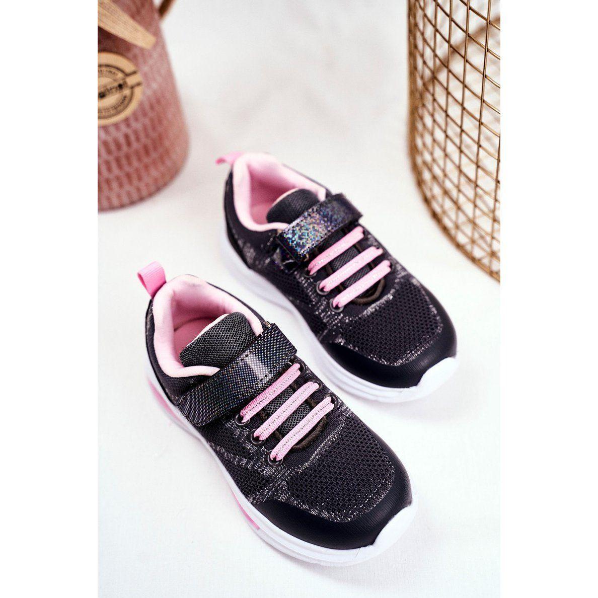Eve Sportowe Buty Dzieciece Swiecace Na Rzepy Szare Simple Way Rozowe Shoes Adidas Samba Sneakers Adidas Samba