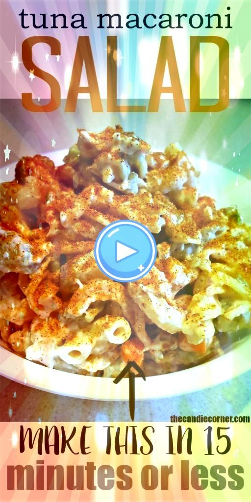 Macaroni Salad Make This Recipe In 15 Minutes Or LessTuna Macaroni Salad Make This Recipe In 15 Minutes Or Less Pineapple Pretzel Salad the perfect combination of salty a...