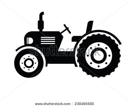 Tractor Stockfoto S Afbeeldingen Plaatjes Pochoir Silhouette Tracteur Image Tracteur