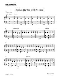 Riptide-Taylor Swift Stave Preview 1