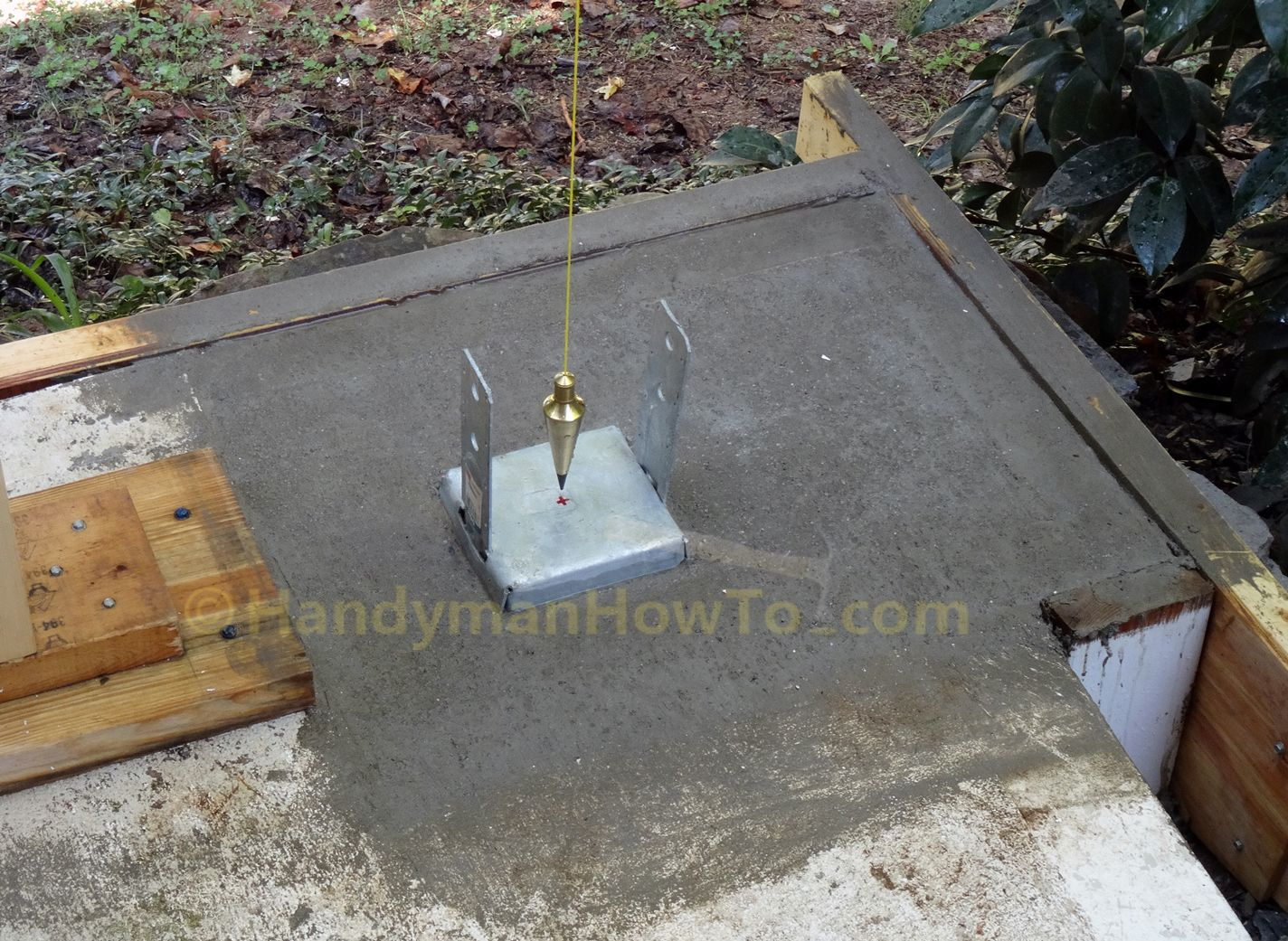 How To Pour A Concrete Deck Post Footer