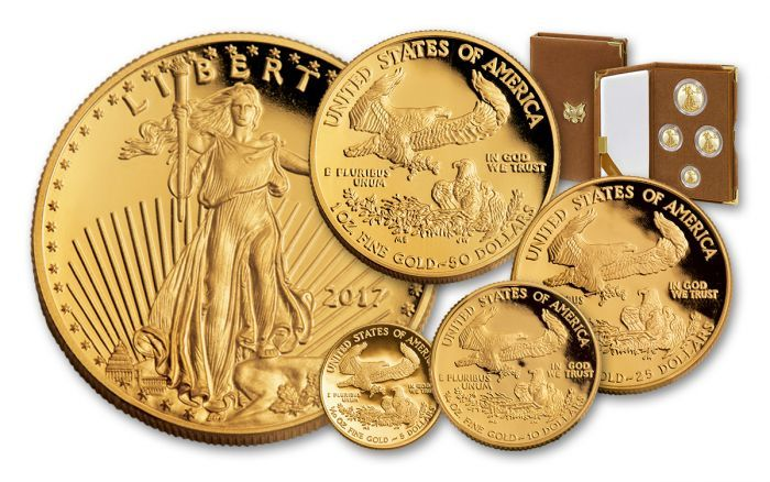 2017 W Gold Eagle 4 Pc Proof Set Gold Eagle Gold Bullion Eagle