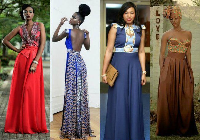 vestidos longos de capulana - Pesquisa Google