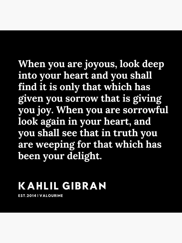 19  |  19119 | Kahlil Gibran Quotes  Poster by valourine