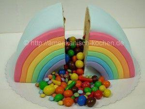 Photo of Rainbow Piñata Cake / Regenbogen Piñata-Kuchen auf amerikanisch-koch… amerik…