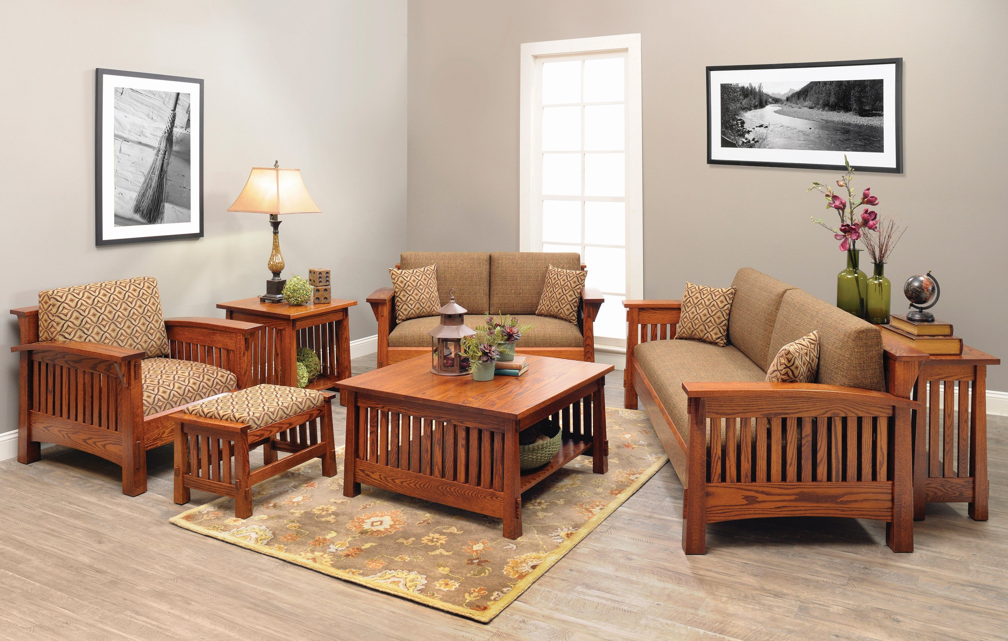 Shop The Look Countryside Mission Living Room Set Living Room Sets Furniture Living Room Sofa Set Mission Style Living Room Furniture