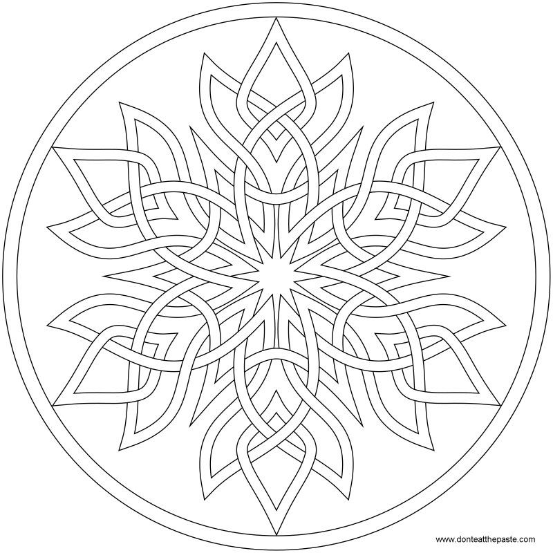 snowflake mandala to color available in png and jpg